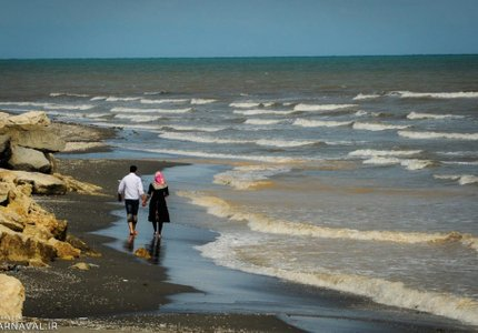 ساحل چالوس | Photo by : Siroos Abdoli