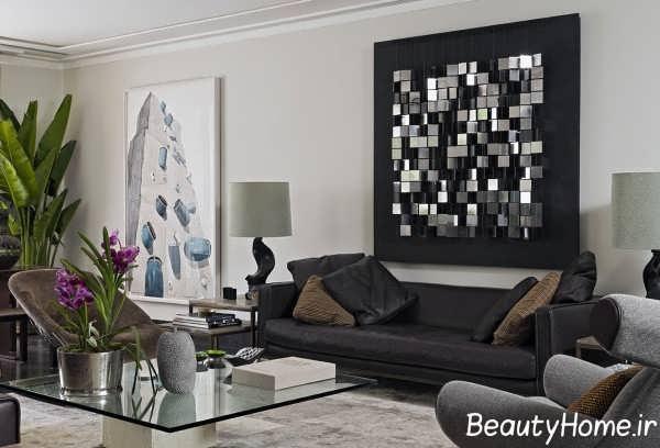 دیزاین عالی دیوار اتاق پذیرایی