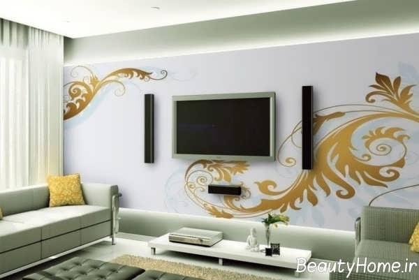دیزاین مدرن دیوار اتاق پذیرایی