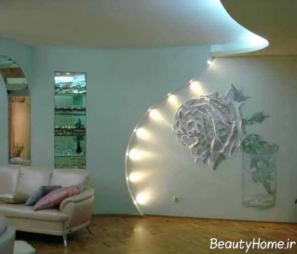 دیوار اتاق پذیرایی یا دیزاین متفاوت