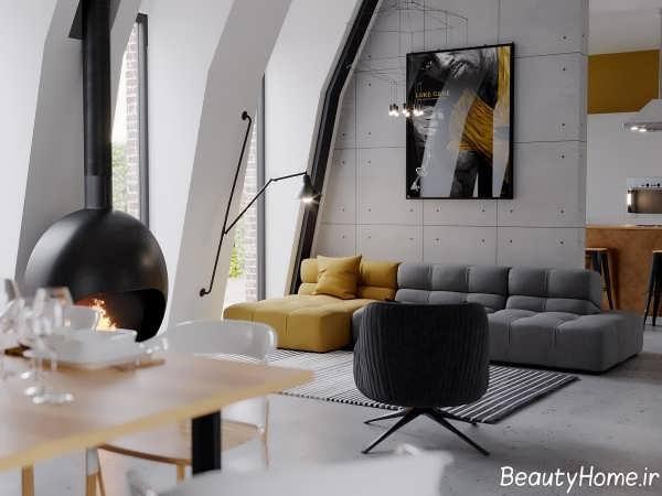 دکوراسیون زیبا و مدرن سالن پذیرایی