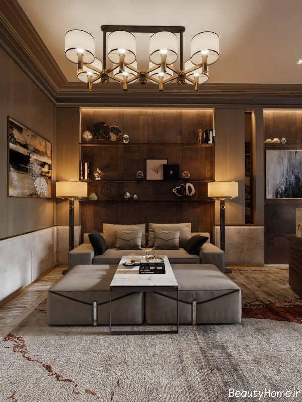 طراحی مدرن سالن پذیرایی