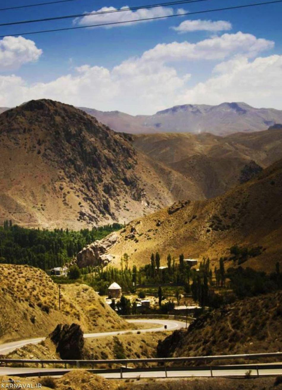 روستای هرانده و دور نمای امام زاده یحیی | Photo by : Majid Shahrabi