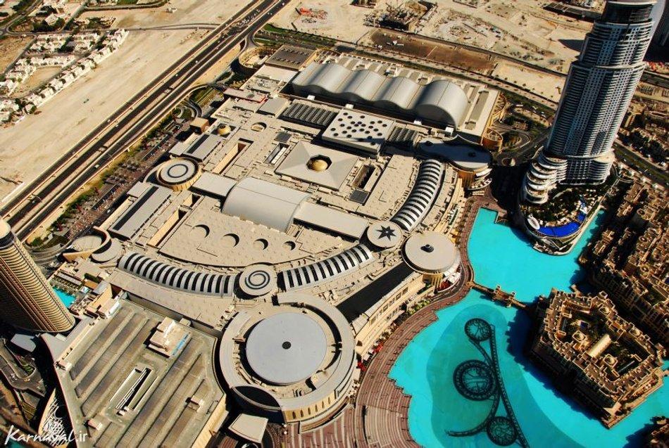 مرکز خرید دبی مال از نمای بالا | Photo by : Unknown