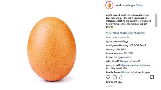 تخم مرغی که لایکها را پنهان کرد