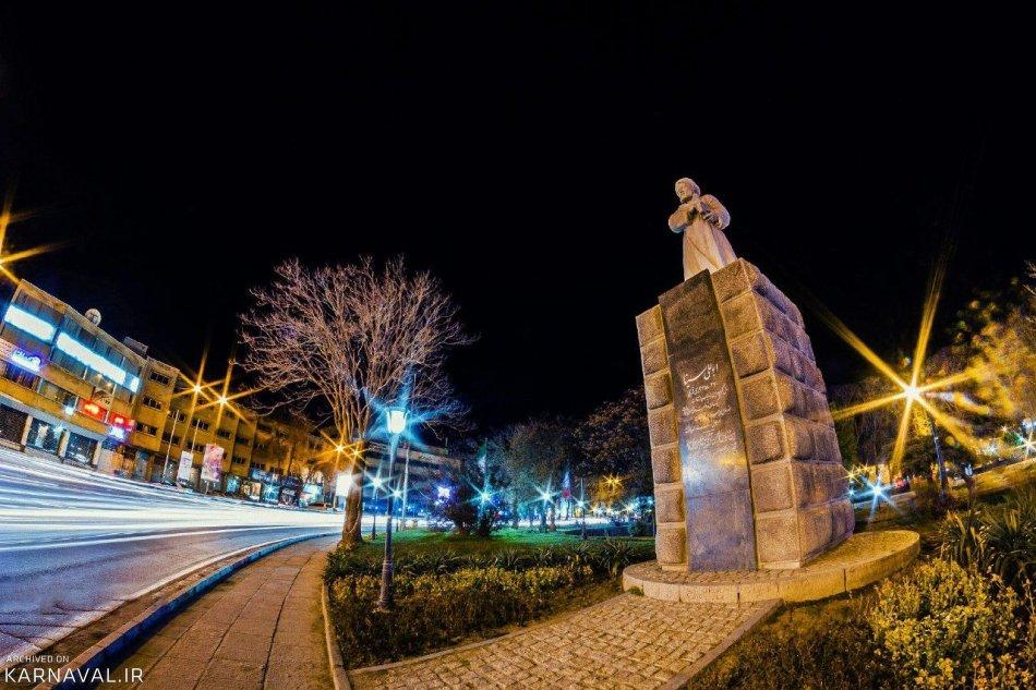 همدان در شب | Photo by : Pouria Ali