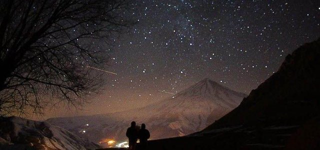 آسمان شب دشت آزو | Photo by : Mehdi Goli Tabari
