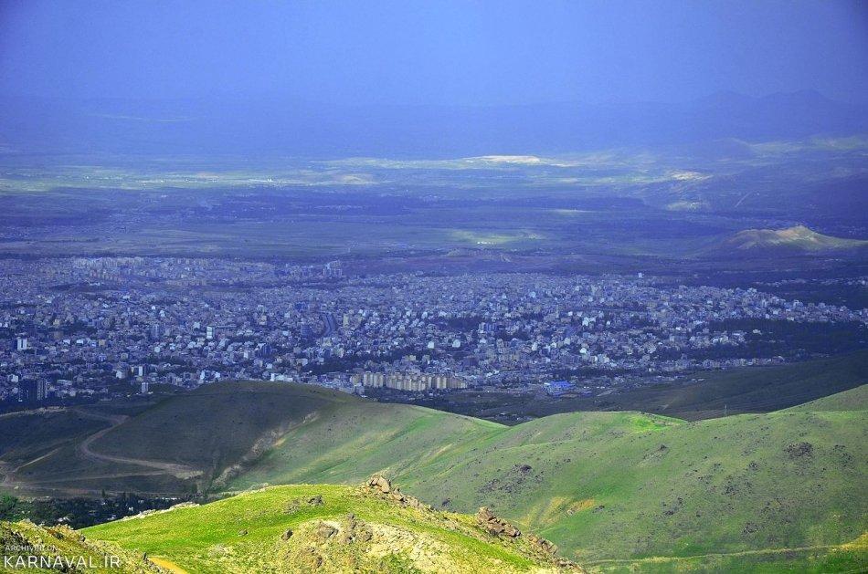 نمای همدان از کوهستان الوند | Photo by : Unknown