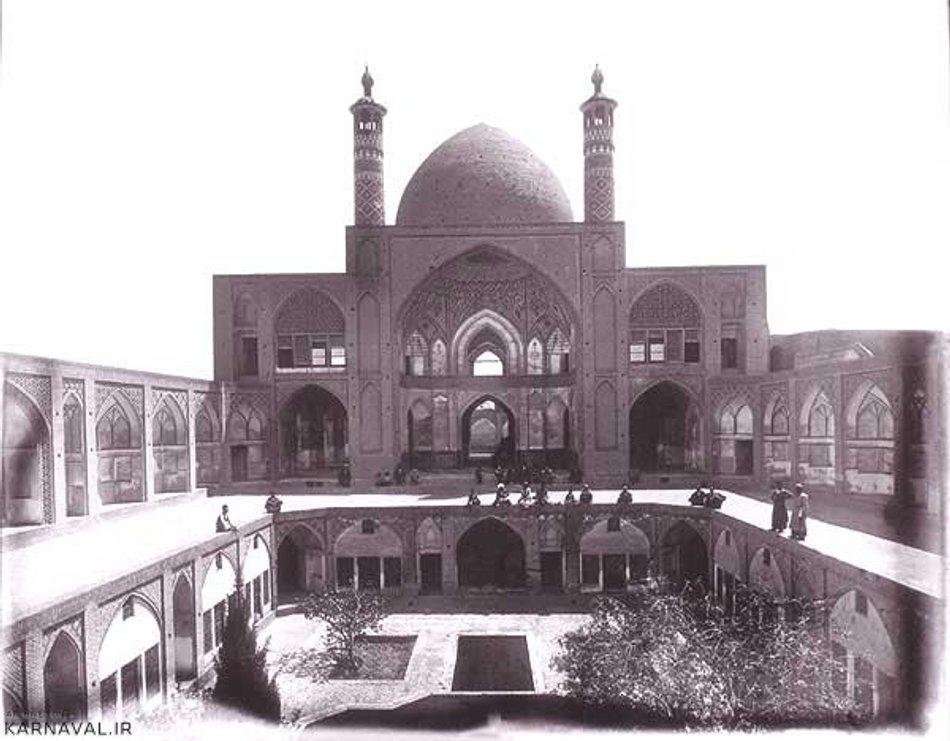 عکس قدیمی از مسجد آقابزرگ | Photo by : Unknown
